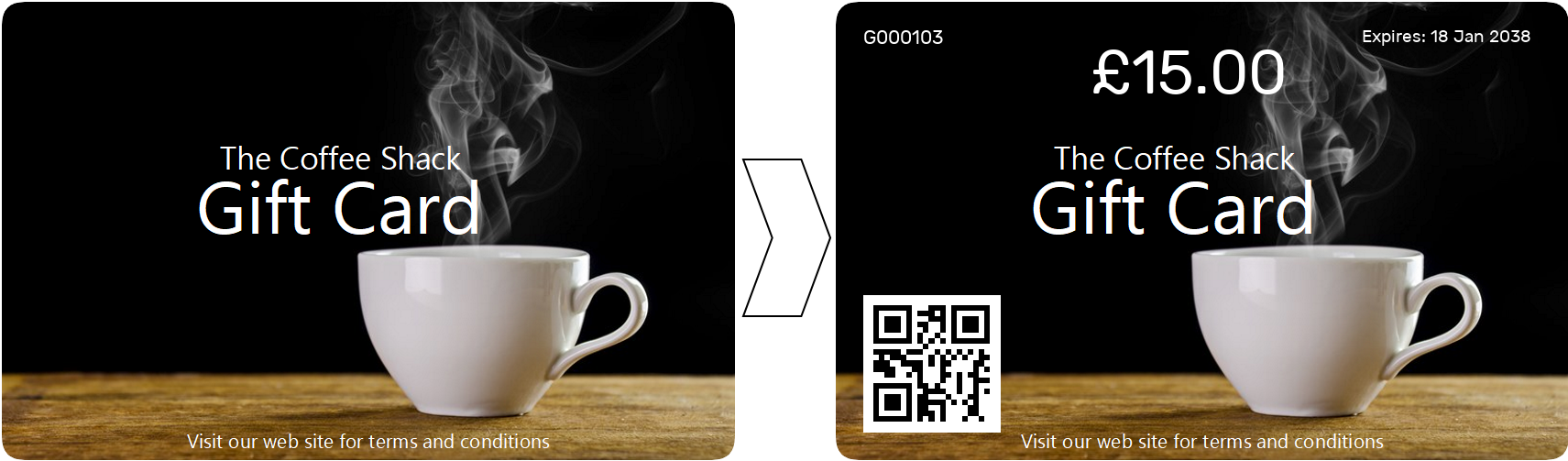Personalisation of an e-Gift Card