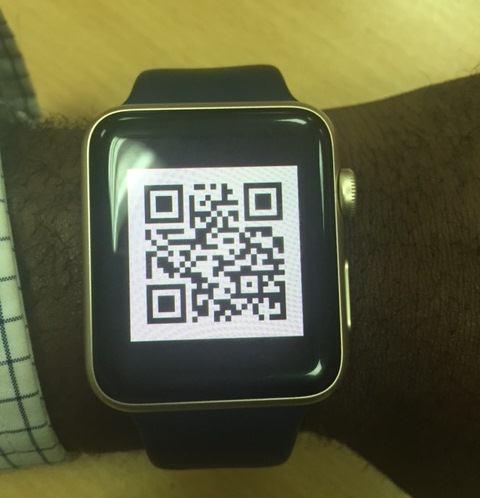 Gainloyalty card on an Apple watch